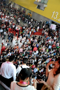 Thousands flocked to find everlasting beauty at the International Beauty Symposium...but the expo halls were filled with cigarette smoke and I felt ten years older not younger by the end of the day!