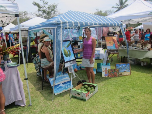 Enjoying the sunshine and the avocado festival on 'the big island'