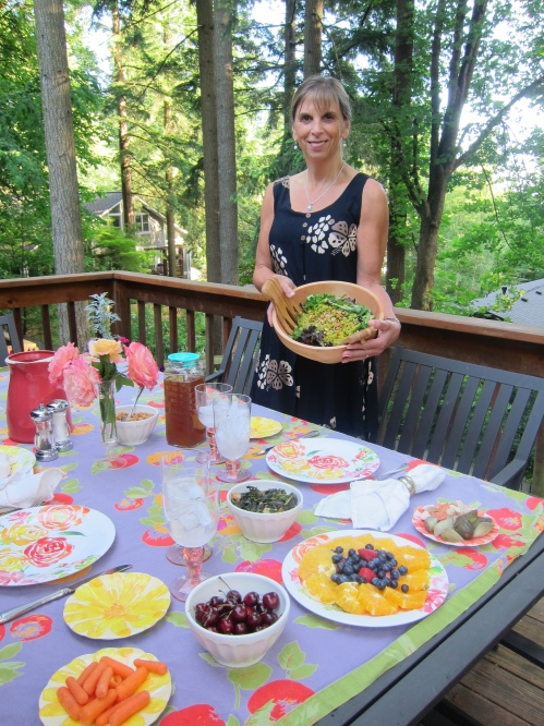 Dinner al fresco: so easy to make healthy fresh foods when the farmers markets are open